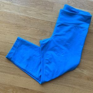 Under Armour Blue Fitted Leggings Size Small